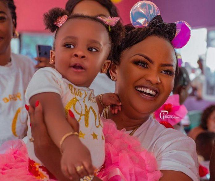 Nana Ama McBrown and daughter, Maxin Mawushi Mensah