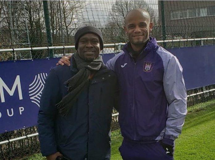 CK Akonnor with Vincent Kompany