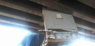 Damaged Ashaiman Bridge on the Accra-Tema motorway