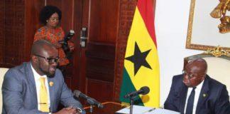 President Akufo-Addo and GFA President, Kurt Okraku