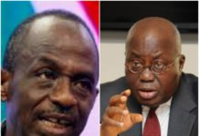 General Secretary of NDC Johnson Asiedu Nketia and President Akufo Addo