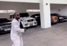 Funny Face choosing a car of his choice at Adebayor's home