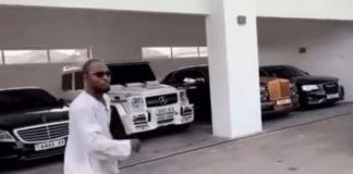 Funny Face choosing a car of his choice at Adebayor's home