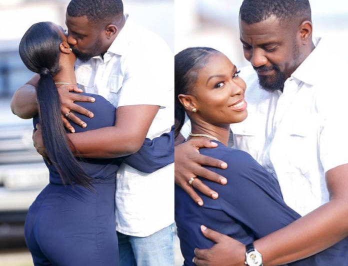 John Dumelo and his wife, Miss Gee