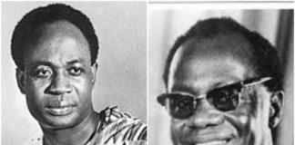 Dr Kwame Nkrumah and Dr Kofi Busia