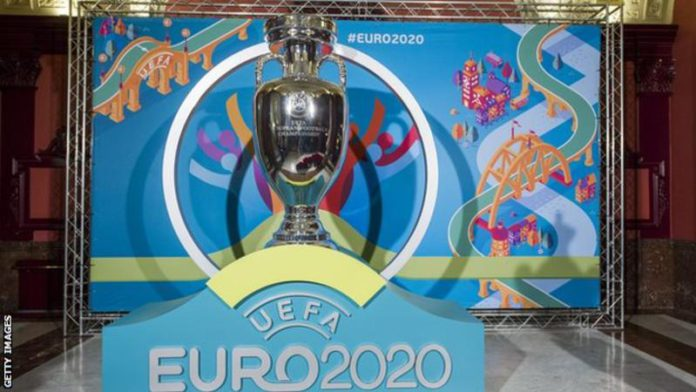 Euro 2020, scheduled to take place at 12 venues across Europe this summer, could be postponed to give European leagues time to complete their domestic seasons