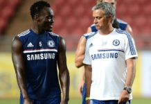 Michael Essien and Jose Jose Mourinho
