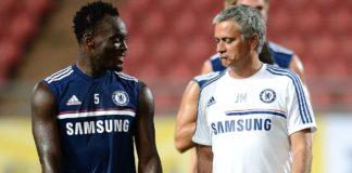 Michael Essien and Jose Jose Mourinho