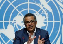 Director-General of WHO Dr. Tedros Adhanom Ghebreyesus,
