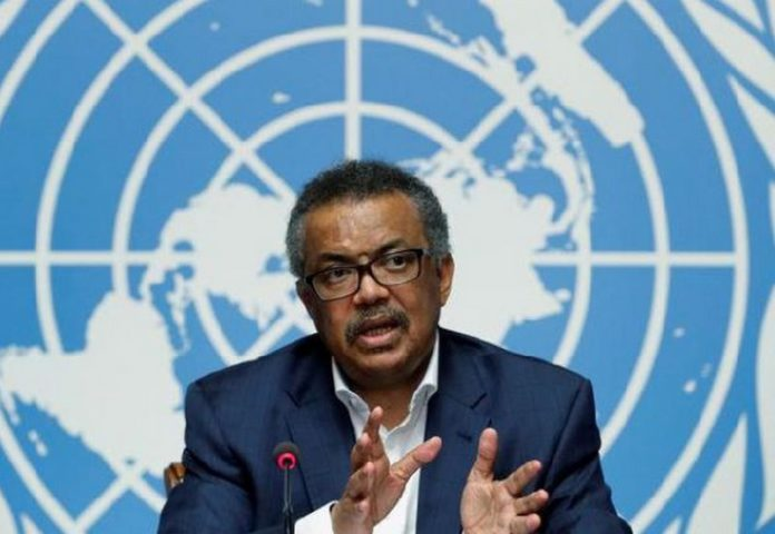 Director-General of WHO Dr. Tedros Adhanom Ghebreyesus,