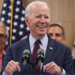 Joe Biden meets African-American woman