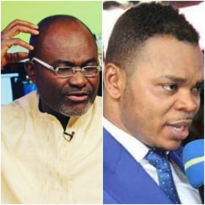 Kennedy Agyapong (left) and Daniel Obinim (right)