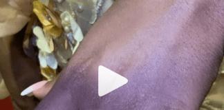 Take a closer look at Fella Makafui's diamond ring