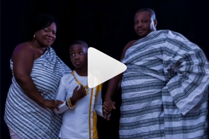 L-R: Mercy Asiedu, her son and husband
