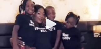 Mercy Johnson and her children during pregnancy photo-shoot