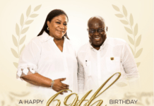 President Nana Addo Dankwa Akufo-Addo has taken to Instagram to celebrate his beautiful wife, the First Lady, Rebecca Akufo-Addo as she marks her 69th birthday.