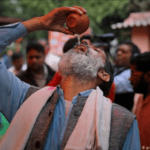 The chief of the Akhil Bharat Hindu Mahasabha (All India Hindu Union) group hosted a cow urine-drinking event on Saturday in New Delhi,