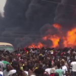 Gas explosion in Lagos leaves at least 15 people dead and around 50 buildings destroyed, Nigerian authorities said