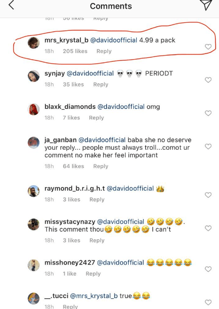 Checkout Davido's response to fan who likened his head to an emoji