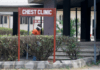 A man wearing face mask walks at the Yaba Mainland hospital, where an Italian citizen who entered Nigeria from Milan on a business trip, the first case of the COVID-19 virus, was treated in Lagos, Nigeria.