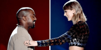 L-R: Kanye West and Taylor Swift