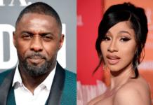 L-R: Idris Elba & Cardi B
