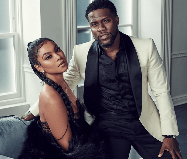 Kevin Hart and Eniko, hiw wife. Photo: Instagram/ @enikohart