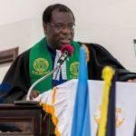 Moderator of the General Assembly of the Presbyterian Church of Ghana, Rt Rev. Professor Joseph Obiri Yeboah Mante,
