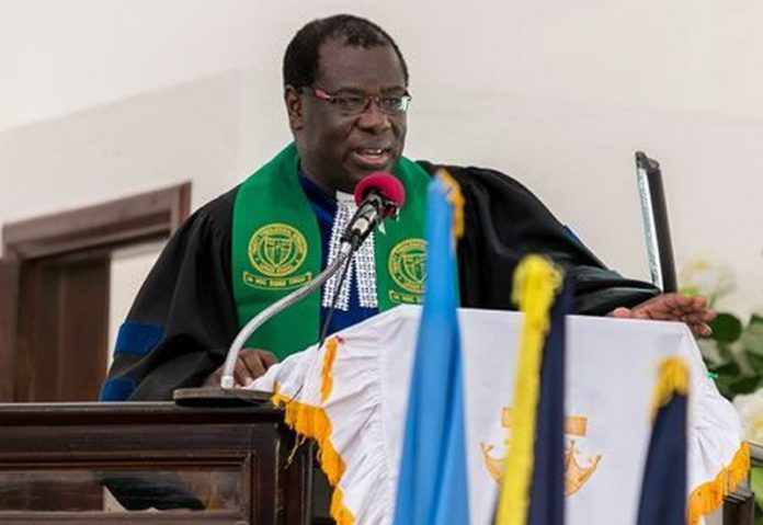 Moderator of the General Assembly of the Presbyterian Church of Ghana, Rt Rev. Professor Joseph Obiri Yeboah Mante,