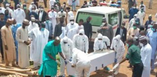 File Photo: Burial of Nigerian President's Chief of Staff, Abba Kyari, who died after contracting Coronavirus in Abuja