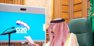 sAUDI aRABI HOSTED THE FIRST VIRTUAL SUMMIT OF G-20 COUNTIRES