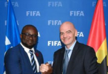 GFA President Kurt Okraku with FIFA boss, Gianni Infantino