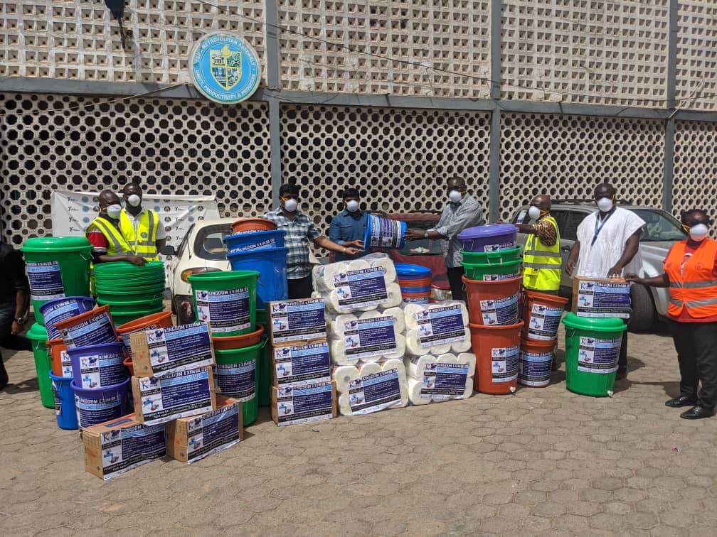 Kingdom Exim donates towards coronavirus fight in Tema
