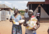Beneficiaries of food donations from Chief Gbetseli
