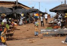 A market in Abidjan, Ivory Coast