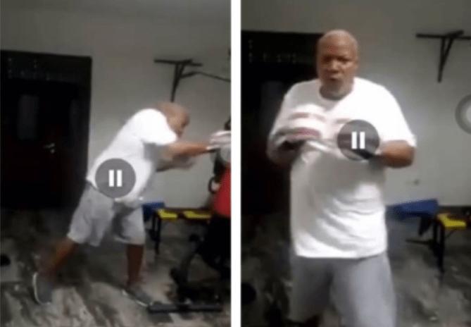 Joshua Alabi exhibits 'lethal' punching skills in lockdown