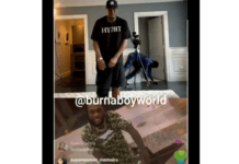 Burna Boy and Diddy on Instagram live