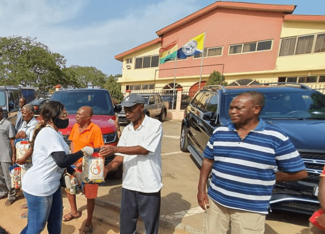 Amadia foundation presents food items to aged people living in Tema