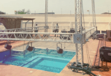 Shatta Wale mounts stage on his swimming pool for Faith Concert