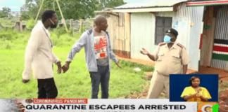Kenya quarantine escapees arrested in bar