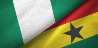File Photo: Ghana and Nigeria flags