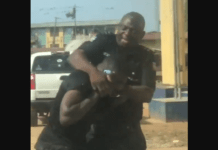Police officer arrested for assaulting worker