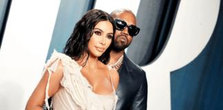 Kim Kardashian & Kanye West at Vanity Fair Oscar Party