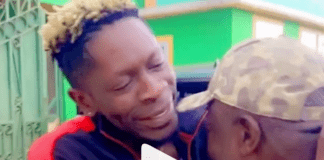 Shatta Wale wears gold chain present for his dad on his birthday