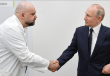 Russian doctor who shook Vladimir Putin's hand tests positive for Covid-19