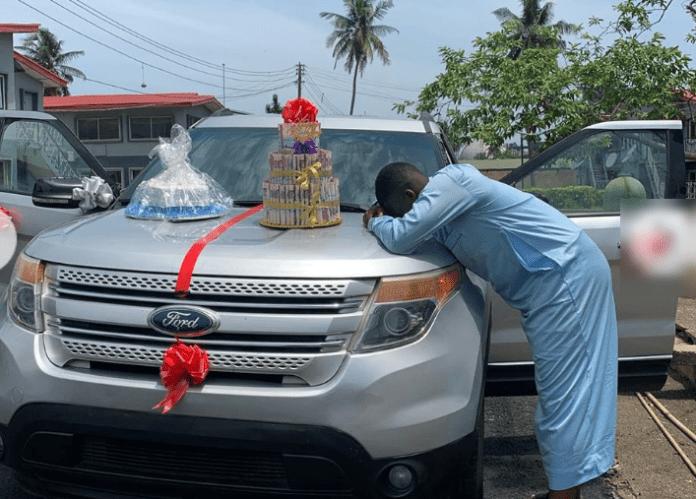 Comedian shed tears of joy as he gets new car from a fan he has never met
