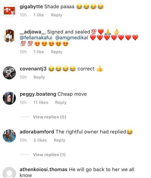 Fella Makafui reacts to Sister Derby's birthday tweet to Medikal