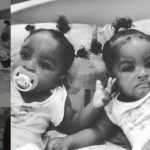 funny face twin daughters