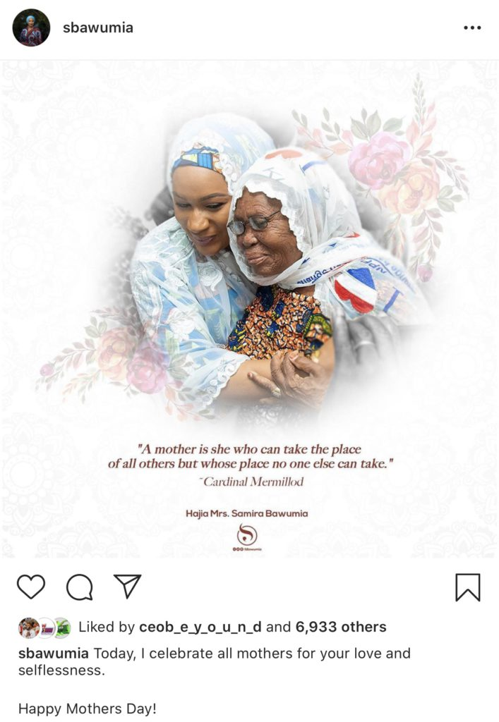 Second Lady, HE Samira Bawumia celebrates her mother and all mothers in Ghana