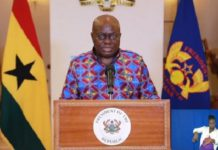 President Nana Addo Dankwa Akufo-Addo during his 9th address on coronavirus